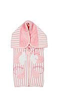 Велюровый конверт-одеяло для девочки