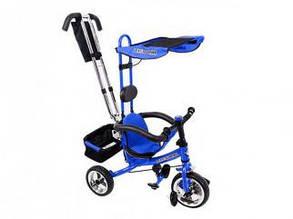 Велосипед трехколесный с ручкой для мамы детский на 1, 2, 3 года, красного цвета, фото 2
