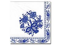 Салфетка для декупажа Katrin — Гжель голубая,  33x33 см
