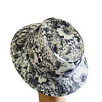 Шляпа женская Блюз серые цветы