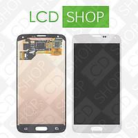 Модуль (дисплей + тачскрин) для телефона Samsung Galaxy S5 i9600 G900R G900F G900H G900M G9001, белый