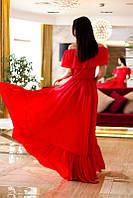 Женское летнее платье в пол из шифона