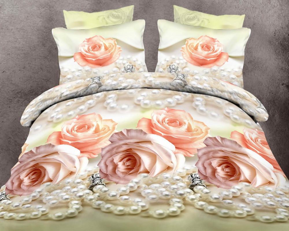 Двуспальный комплект постельного белья Жемчужная Роза