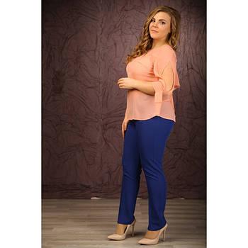 Женские брюки Яна цвет электрик размер 48