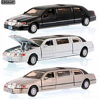 Машина-лимузин Kinsmart Lincoln Town Car Stretch Limousine KT7001W