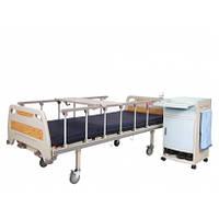 Кровать больничная механическая на колесах, с перилами, металлический каркас (4секции)