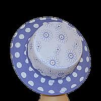 Шляпа женская Канотье голубой принт