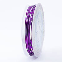 Медная Проволока 1мм/2.5м, Цвет: Пурпурный, Толщина 1 мм, около 2.5м/моток, (УТ0028120)