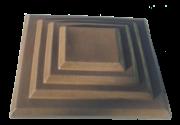 Крышки на кирпичные столбы забора «КАСКАД» 450х580, цвет коричневый, вес 36 кг.