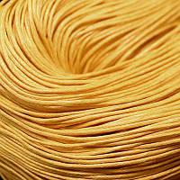 Шнур Вощеный Хлопковый, Цвет: Светло-оранжевый, Размер: Толщина 1мм, около 80м/связка, (УТ0003414)