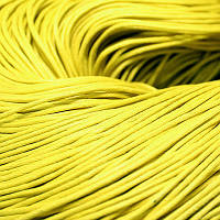 Шнур Вощеный Хлопковый, Цвет: Желтый, Размер: Толщина 1.5мм, около 80м/связка, (УТ000004055)