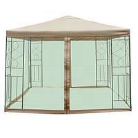 Садовый павильон с москитной сеткой Green 3х3 м DU171 Бежевый