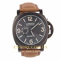 Наручные мужские часы Швейцарские Panerai Luminor Ceramica black black