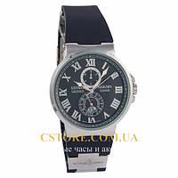 Мужские наручные часы Бельгийской сборки Ulysse Nardin Le Locle Suisse silver blue