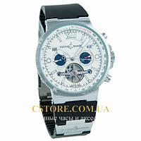 Мужские наручные часы элегантные Ulysse Nardin Marine Diver silver white