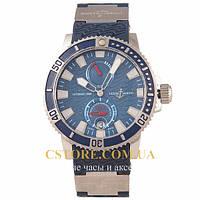 Мужские наручные часы Ulysse Nardin marine automatic 200 m silver blue (05715), фото 1