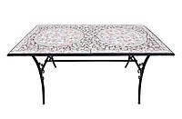 Стол металлический с мозаикой