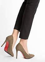 Туфли женские на шпильке с красной подошвой
