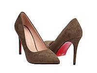 Женские классические туфли на шпильке с красной подошвой