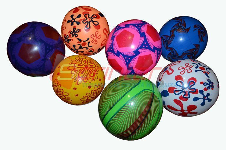Мячик игровой с рисунком d-16 Цвета в ассортименте.