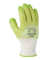 Перчатки 4552 трикотажные с ПВХ-покрытием зеленые Долони