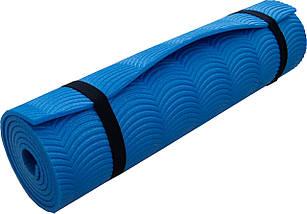 Коврик Polifoam (Полифом) однослойный c рифлением радуга, синий