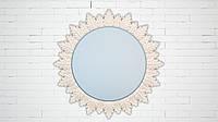 """Настенное круглое зеркало в раме. Модель """"Sun"""", цвет """"Onyx"""""""
