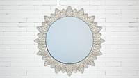 """Зеркало для ванной и сауны круглое. Модель """"Sun"""", цвет """"Crystal"""""""