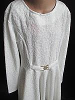 Белые трикотажные платья для девочек.
