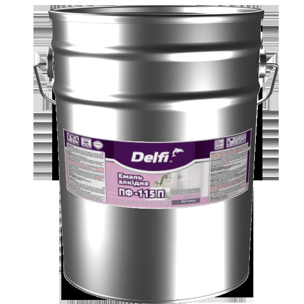 Эмаль Delfi ПФ 115П  темно-серый 25кг Полисан