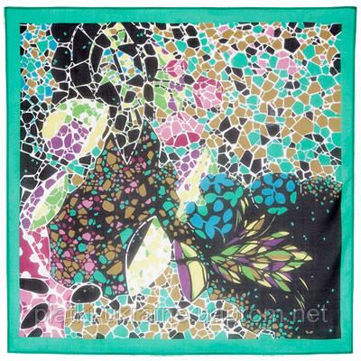 Платок шелковый павловопосадский (креп-жоржет) «Парк «Гуэль», 84х84 см