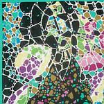 Платок шелковый павловопосадский (креп-жоржет) «Парк «Гуэль», 84х84 см, фото 2