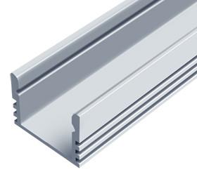 Алюминиевый профиль ЛП 12*16мм для LED ленты серебро (за 1м) Код.56626