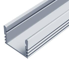 Алюминиевый профиль ЛП 12*16мм для LED ленты серебро (за 1м) Код.56626, фото 2