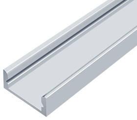 Алюминиевый профиль ЛП7*16мм для LED ленты серебро (за 1м) Код.56627