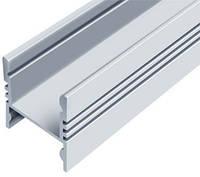 Алюминиевый профиль ЛПС17*16мм для LED ленты скрытое крепление серебро (за 1м) Код.56631, фото 1