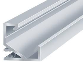 Алюминиевый профиль угловой ЛПУ17*17мм для LED ленты серебро (за 1м) Код.56632, фото 2