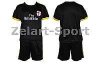 Форма футбольная детская Milan (черный)