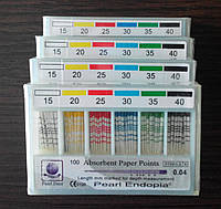 Штифты бумажные PEARL DENT 0.4 № 15-40