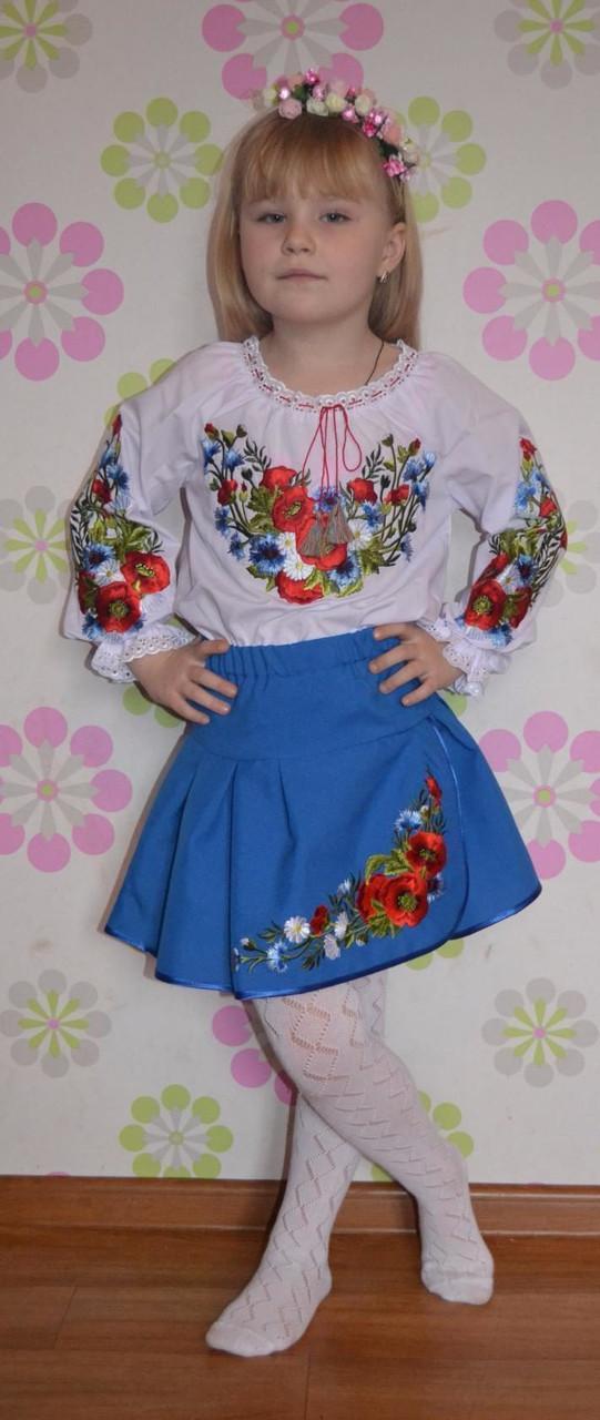 Блуза вышитая  нарядная для девочки
