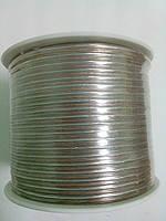 Акустический прозрачный(золото-серебро) 2х24/0.16мм(2*0,48мм2) 100м (медь).