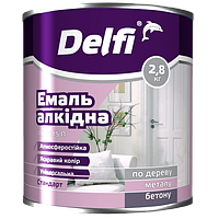 Эмаль Delfi ПФ 115П салатовая 2.8кг Полисан