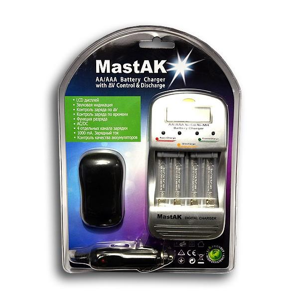 Зарядное устройство MasTak MW-998 (1/4, AA1000mAh,AAA500mAh)