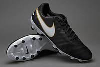 Бутсы Nike Tiempo Genio II Leather FG 819213-010 Найк Темп