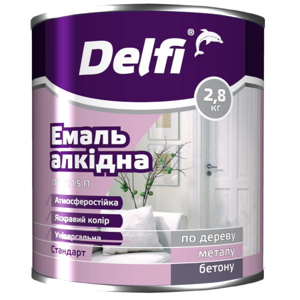 Эмаль Delfi ПФ 115П  темно-зеленая 2.8кг Полисан