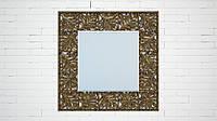 """Зеркало настенное для сауны, бани. Модель """"Grid"""", цвет """"Crystal Ambre"""""""