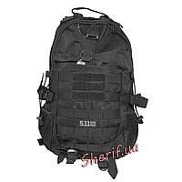 Рюкзак тактический черный военный 5.11 Black, 20 литров