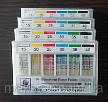 Штифты бумажные PEARL DENT 0.6 № 15-40