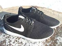 Кроссовки в стиле Nike Roshe Run черные (размеры 37)