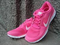 Кроссовки женские Nike Free Run 3 розовые (размеры 37-41)